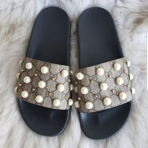 Gucci Supreme GG Pearl Slides Size 40 $630+